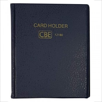 CBE 12132 PVC Name Card Holder-  Blue (Item No: B10-144BL) A1R3B121