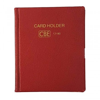 CBE 12132 PVC Name Card Holder - Red (Item No: B10-144RD)  A1R3B121