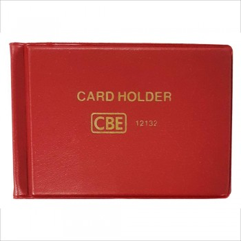 CBE 12180 PVC Name Card Holder-Red (Item No: B10-145RD) A1R3B122