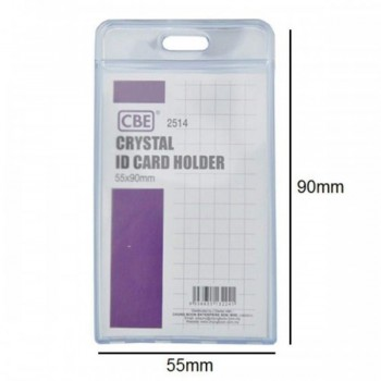 CBE 2514 Crystal ID Card Holder - 55 x 90mm