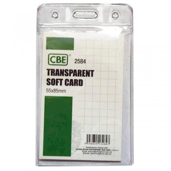 CBE 2584 Transparent Soft Card - 55 x 85mm (Item No: B10-173) A1R3B127