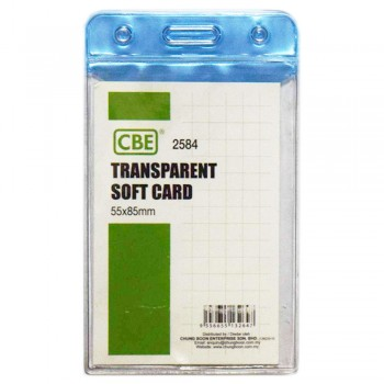 CBE 2584 Transparent Soft Card Blue
