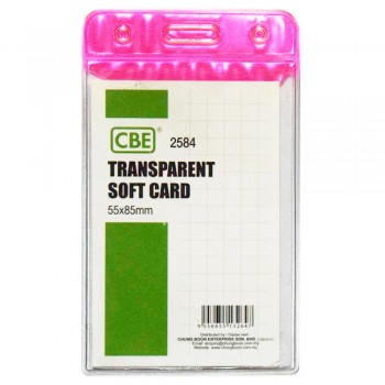 CBE 2584 Transparent Soft Card - Pink
