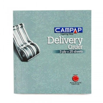Campap Ca3825 178X190Mm 25X3P Delivery Order Book