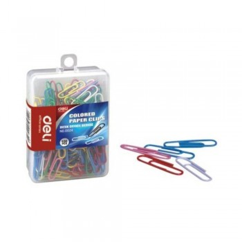 Deli Colored Paper Clips 29mm - 100pcs (Item No: B03-06) A1R2B78