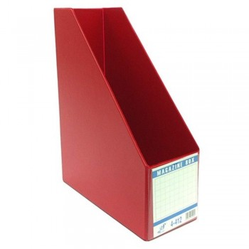 "EAST FILE PVC MAGAZINE BOX 412 3"" Red (Item No: B11-94 RD)"