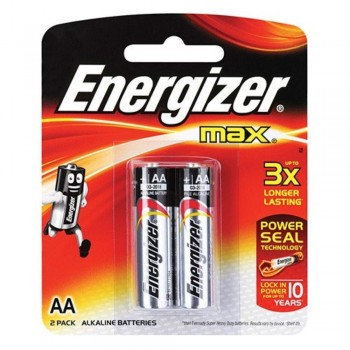 Energizer MAX AA Alkaline Batteries - 2psc pack (Item No: B06-05) A1R2B218