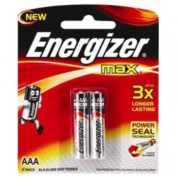 Energizer MAX AAA Alkaline Batteries - 2psc pack (Item No: B06-07) A1R2B220