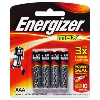 Energizer MAX AAA Alkaline Batteries - 4psc pack (Item No: B06-08) A1R2B221