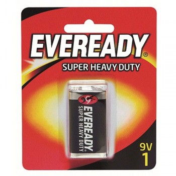 EVEREADY Super Heavy Duty 9V Carbon Zinc Batteries - 9V Size - 1 Pack (Item No: B06-15) A1R2B228