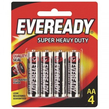 EVEREADY Super Heavy Duty AA Carbon Zinc Batteries - AA Size - 4 Pack (Item No: B06-18) A1R2B231
