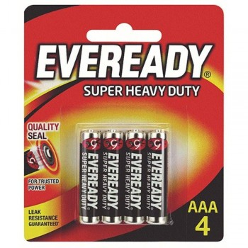 EVEREADY Super Heavy Duty AAA Carbon Zinc Batteries - AAA Size - 4 Pack (Item No: B06-19) A1R2B232