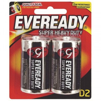 EVEREADY Super Heavy Duty C Carbon Zinc Batteries - C Size - 2 Pack (Item No: B06-16) A1R2B229