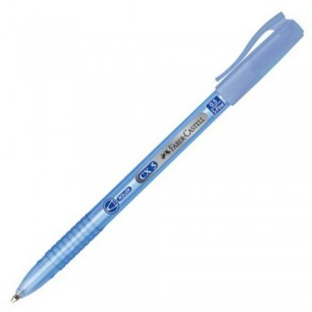 Faber Castell CX5 Ball Pen - 0.5mm Super Fine - BLUE (Item No: A02-06 CX5BL) A1R1B17