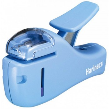 Kokuyo Harinacs Stapleless Stapler - Compact (Blue)
