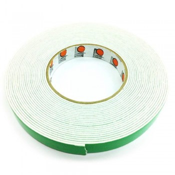 Foam Tape - 18mm x 10m, 3mm thick, White (Item No:B02-09 DSF18X10W) B02-09 DSF18X10