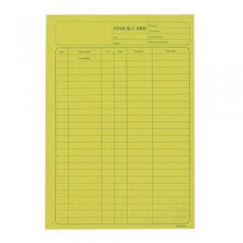 5006 120Gsm Stock Card 20'S Yellow