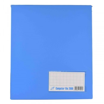 PVC COMPUTER FILE A4 - Blue (Item No: C01 21 BL)