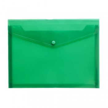 A4 Document Holder Wallet Button Green