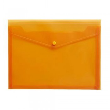 A4 Document Holder Wallet Button Orange