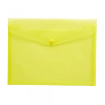 A4 Document Holder Wallet Button Yellow