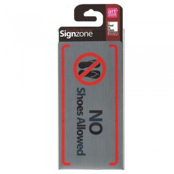 Signzone P&S Metallic - 95190 NoShoes Allowed (Item No: R01-63)