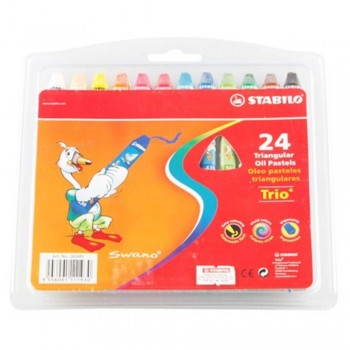 Stabilo Oil Pastels 24pc  (Item No: B05-18) A1R2B146