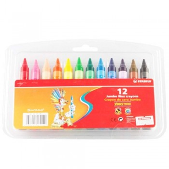 Stabilo Wax Crayon Jumbo - 12pc (Item No: B05-19) A1R2B147