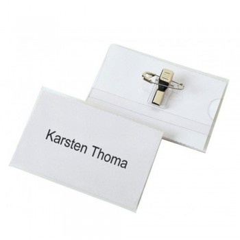 Hata Rigid PVC Name Badge With Clip (50pcs per box)