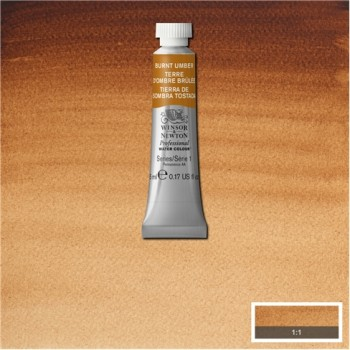 W&N Artists Water Colour 5ml 076 Burnt Umber S1