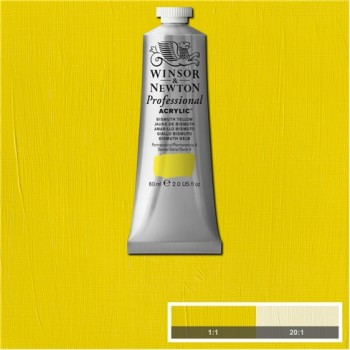 W&N Artists Acrylic Colour 60ml 025 Bismuth Yellow S4