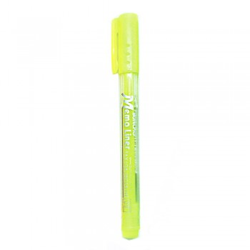 Buncho Memo Liner Highlighter-Yellow
