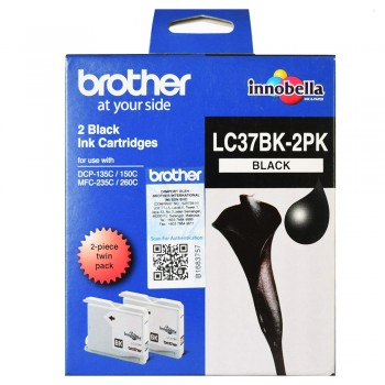 Brother LC-37 Black Twin Pack