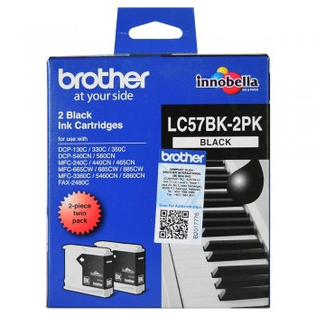 Brother LC57 Twin Pack (2pcs LC57BK per pack)
