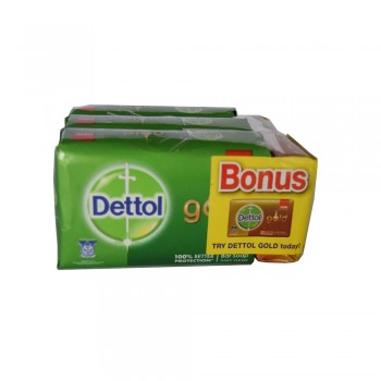 Dettol Body Soap Cool 105g x 3+1+65g (Free)