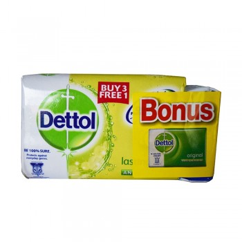 Dettol Body Soap Lasting Fresh 105g x 3+1+65g (Free)