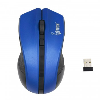 L-TECH Wireless Mouse Model 302 - BLUE - 2.4GHz Wireless, Operating Distance Up To 10m, 6-Key Optical Mouse 6D, 1600 DPI, Compact Ergonomic Design - WM-302B
