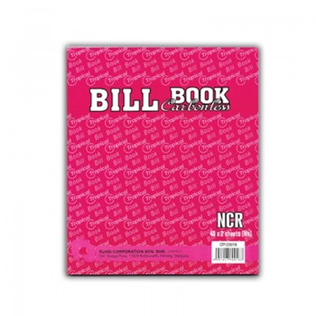NCR 2 Ply Bill Book - 179 x 156mm, 2 x 40 sheets Carbonless
