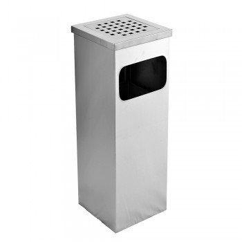 Stainless Steel Square Ashtray Dustbin - 003/SS