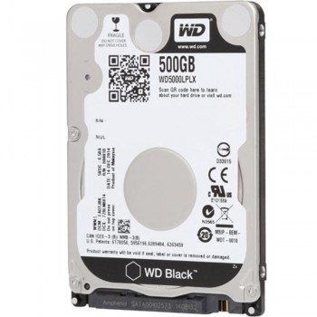 "WD 2.5"" Internal H.Disk Drive- NoteBook 500gb -Black"